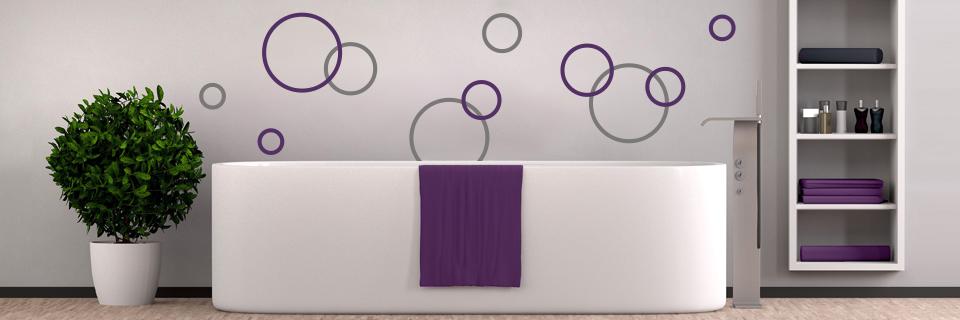 Tipps ideen zur wandgestaltung im badezimmer - Wandgestaltung kreise ...