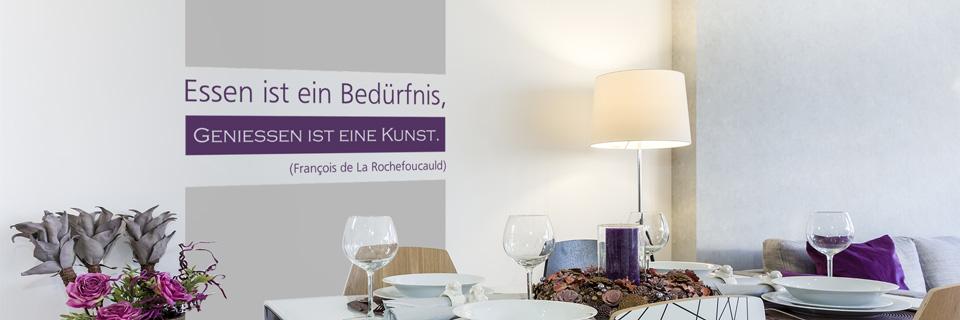 tipps ideen zur wandgestaltung in k che und esszimmer. Black Bedroom Furniture Sets. Home Design Ideas