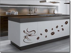 Raumgestaltung in Küche & Esszimmer mit edlen Klebefolien