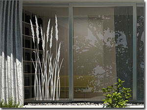 glastattoo pflanzen edle klebefolie f r glasfl chen. Black Bedroom Furniture Sets. Home Design Ideas