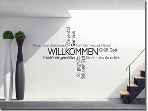 Sprüche Und Motive Als Wandtattoo Für Flur Und Eingangsbereich