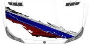 Mobile Preview: Die Flagge Russlands als Autoaufkleber