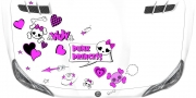 Preview: Autosticker Skull in Pink