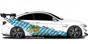 Preview: Flagge Bayern Autoaufkleber BMW