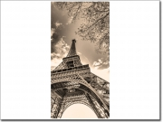 Preview: Türbild mit Eiffelturm in Paris in sepia