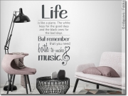 Preview: Wandspruch  Life is like a piano