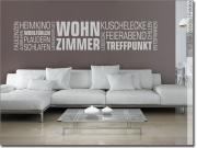 Wandtattoo Wohnzimmer | Wortwolke verschiedene Begriffe