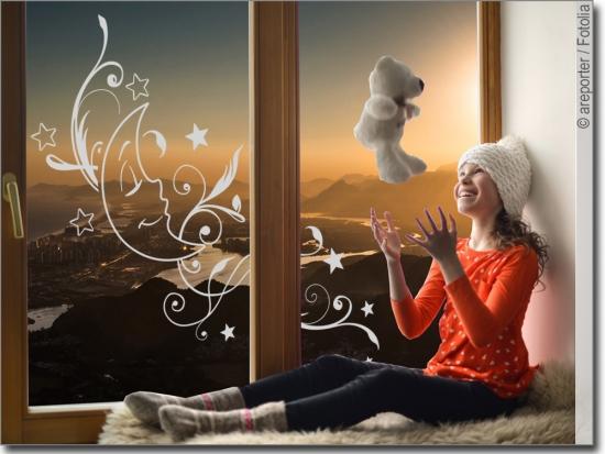design ornamente als glasfolie von lifestyle. Black Bedroom Furniture Sets. Home Design Ideas