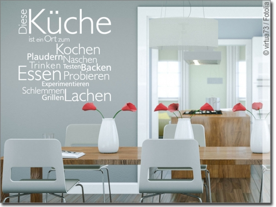 Küchentattoos  Wandtattoo Diese Küche | Das Original nur bei uns