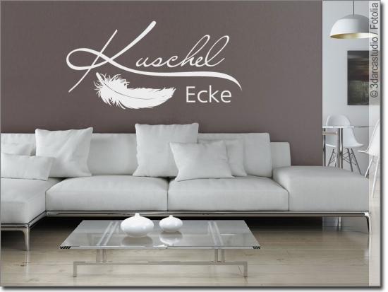 wandtattoo kuschelecke mit feder f r gem tlichkeit. Black Bedroom Furniture Sets. Home Design Ideas