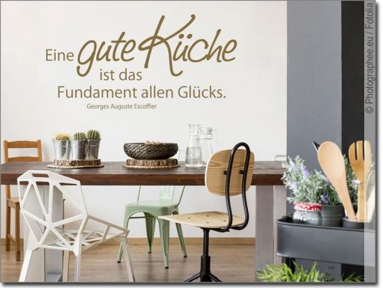 Wandzitat Eine gute Küche | Wandtattoo Küchenspruch