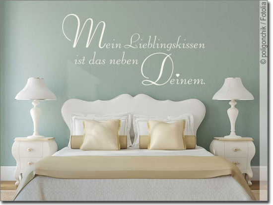 Wandspr che f rs schlafzimmer