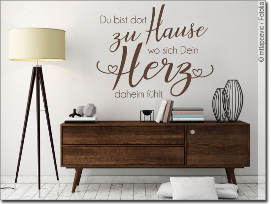 wandspruch du bist dort zu hause i reizendes wandtattoo. Black Bedroom Furniture Sets. Home Design Ideas
