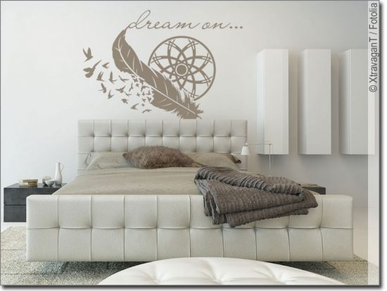 Wandsticker Dream on