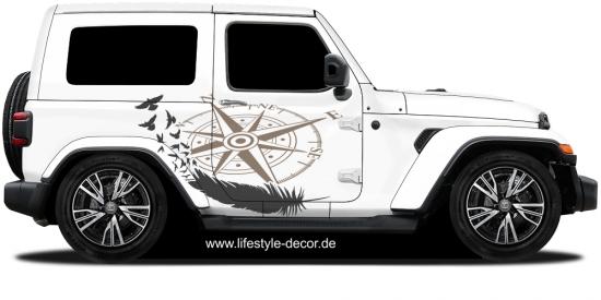 Bunte Autoaufkleber Mit Unterschiedlichen Designs