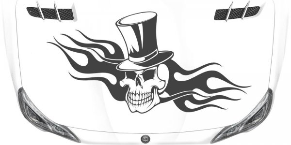 Autosticker Skull in Flammen