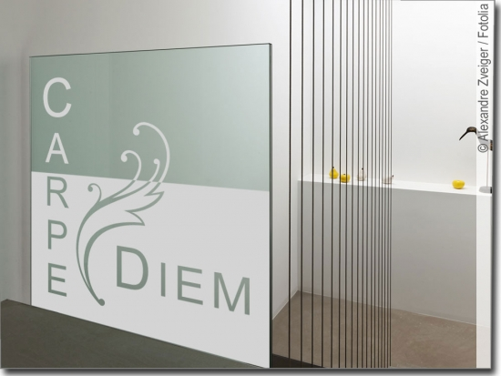 Fensterbanner Carpe Diem