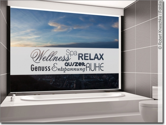 Fensterbanner Wellness