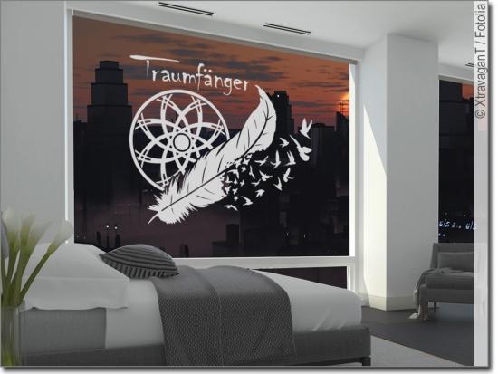 Hervorragend Fensterfolie Traumfänger Mit Text