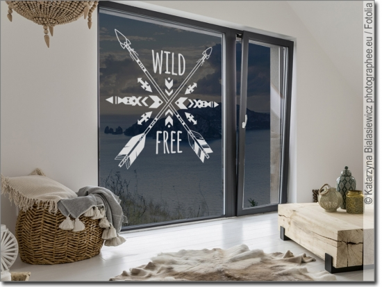 Fenstertattoo Wild and Free