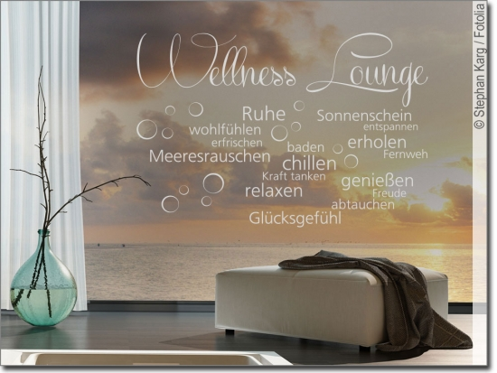 Glasaufkleber Wellness Lounge