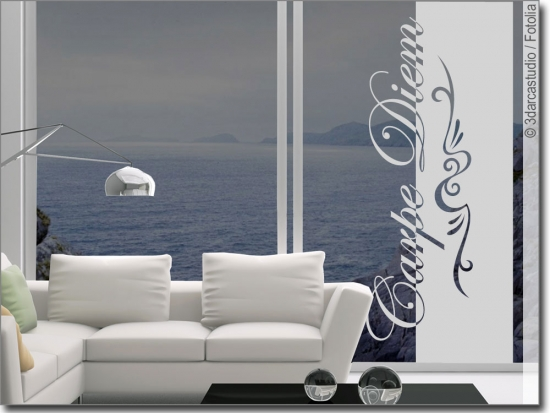 Glasbanner Carpe Diem Eleganz