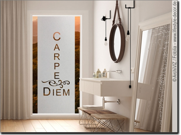 Glasbanner Carpe Diem Modern
