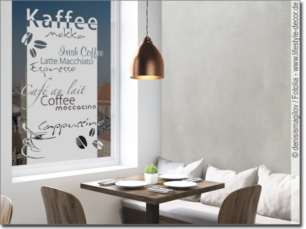 Glasbanner Kaffee