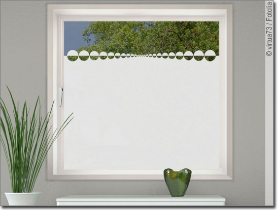 Glasbanner Kreisdecor