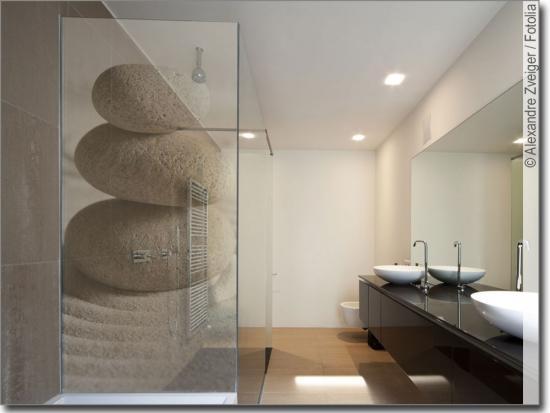 Fotofolie f r bad mit foto bedruckte glasfolie nach ma - Glasbild badezimmer ...