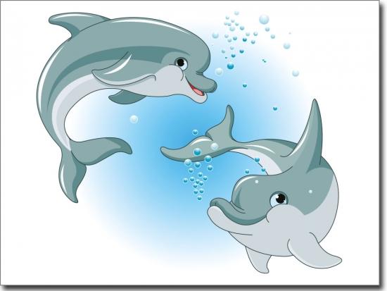 Glasbilder Für Badezimmer: Passgenaues Glasbild Mit Delphinen Fürs Badezimmer