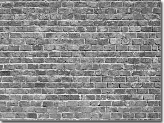 Glasbild Backstein Mauer | Bedruckte Fensterfolie