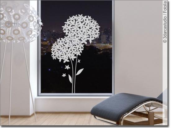 blumen und str ucher als dekoration f r fenster und glas. Black Bedroom Furniture Sets. Home Design Ideas