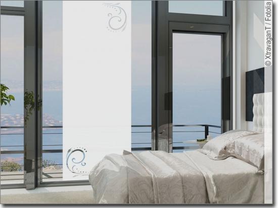 fensterdekor ornament jugendstil sichtschutzfolie. Black Bedroom Furniture Sets. Home Design Ideas