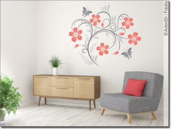 wandtattoo dekorative ranke wandsticker wohnbereich. Black Bedroom Furniture Sets. Home Design Ideas
