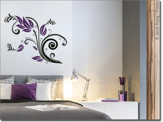 glastattoo flower ornament ornament sticker f r glas. Black Bedroom Furniture Sets. Home Design Ideas