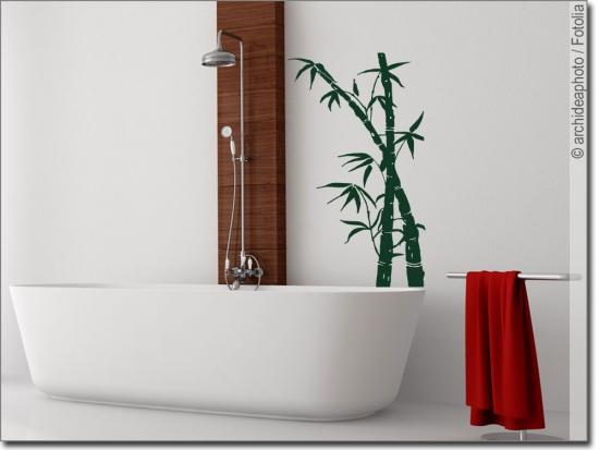 Gr ser und bambus wandtattoos zur wohnraumgestaltung - Wandsticker bambus ...