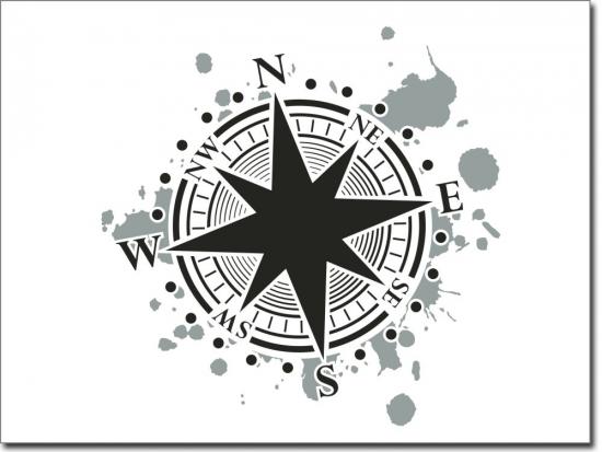 Fensterfolie kompass - Wandtattoo kompass ...