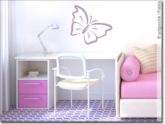 wandsticker schmetterling f r ihr kinderzimmer. Black Bedroom Furniture Sets. Home Design Ideas
