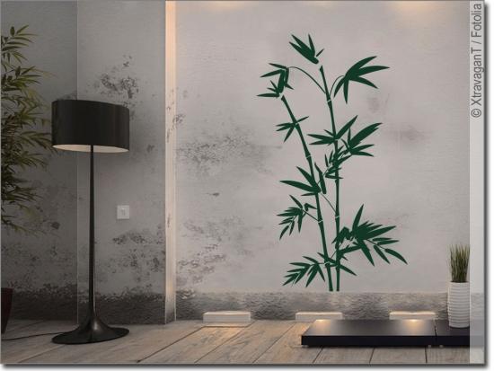 Wandtattoo bambusstrauch bambus als wandsticker - Wandsticker bambus ...