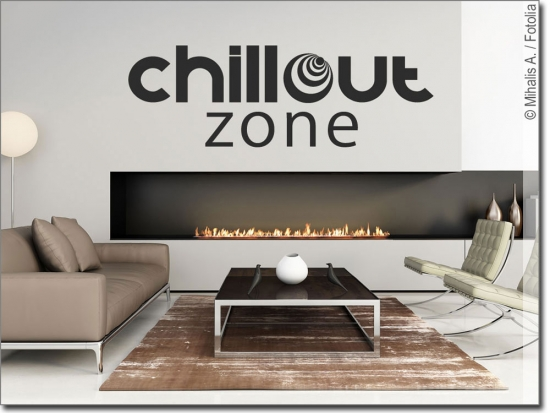 wandworte chillout zone ein wandtattoo zum wohlf hlen. Black Bedroom Furniture Sets. Home Design Ideas