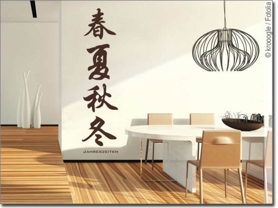 wandtattoo chinesisches zeichen jahreszeiten sticker. Black Bedroom Furniture Sets. Home Design Ideas