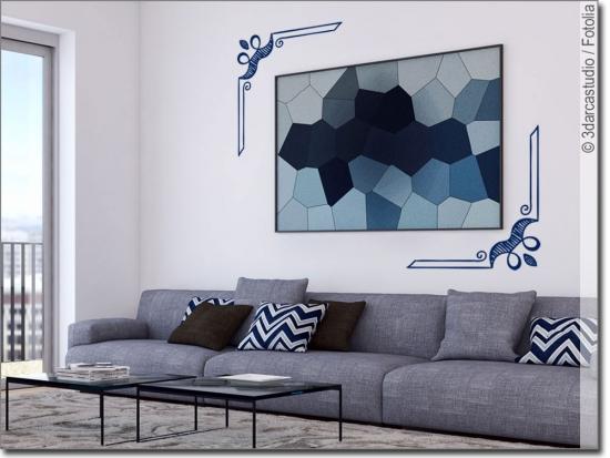 wandtattoo ecken. Black Bedroom Furniture Sets. Home Design Ideas