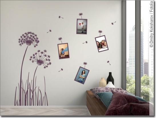 Wandtattoos mit bilderrahmen kombiniert in 2018 home decor for Wandspruche kinderzimmer