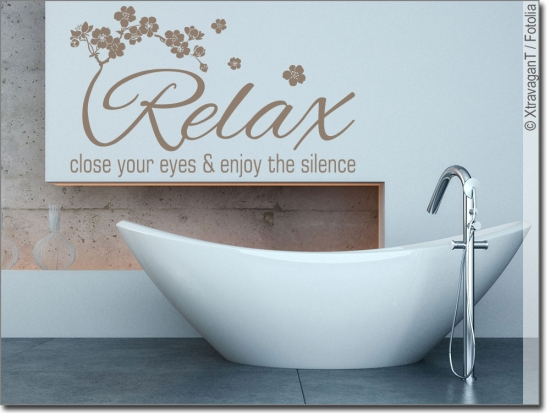 Wandtattoo Badezimmer: Motive und Sprüche zum Wohlfühlen