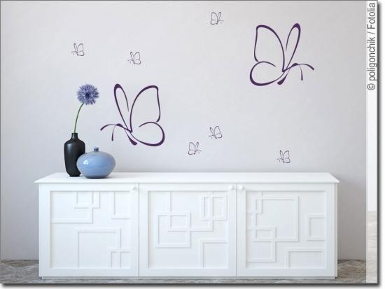 wandtattoo schmetterling xxl set wandaufkleber. Black Bedroom Furniture Sets. Home Design Ideas