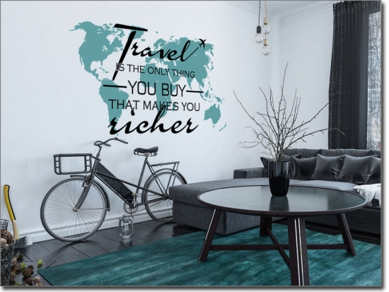 Wandtattoo Spruch Travel