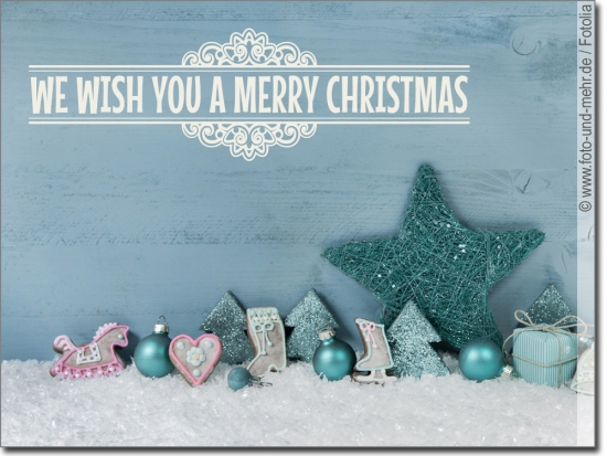 Wandtattoo We wish you a merry christmas