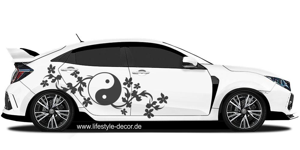 autoaufkleber yin yang cardesign asiatisch. Black Bedroom Furniture Sets. Home Design Ideas