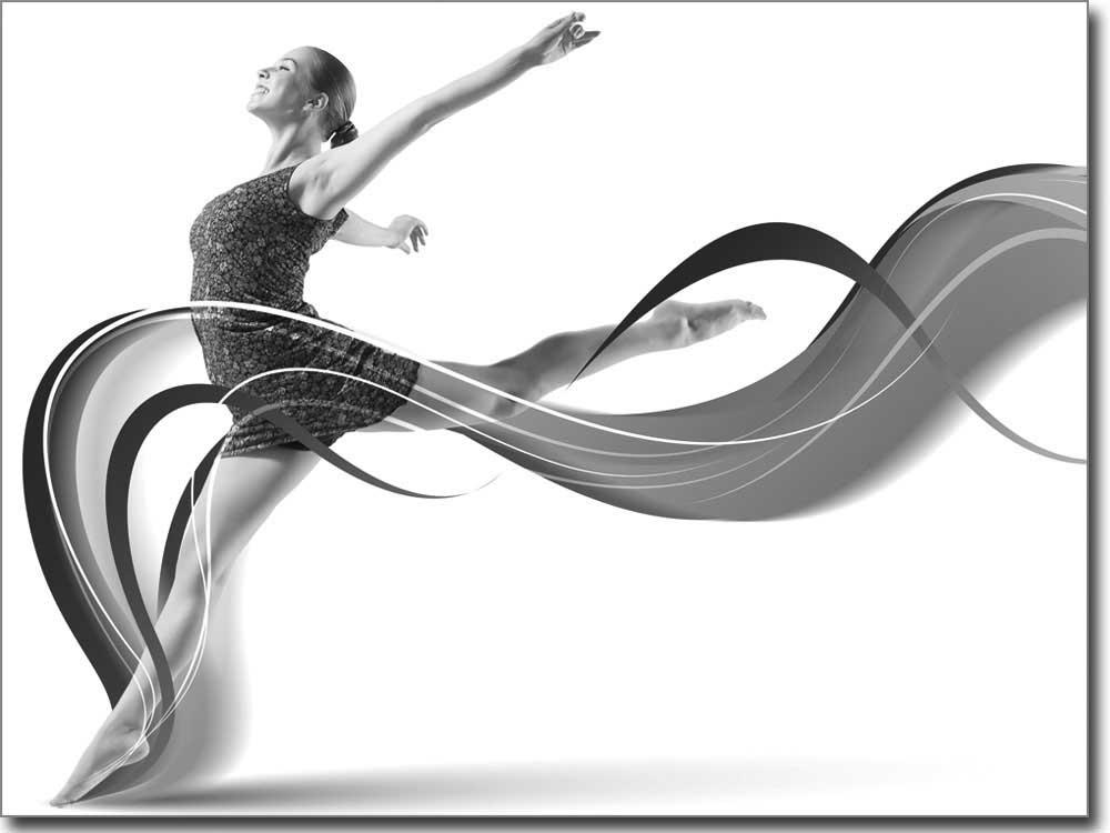 Selbstklebendes fensterbild mit sportakrobatik motiv for Bedruckte klebefolie